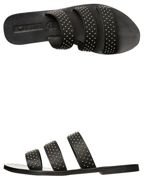 BLACK STUD WOMENS FOOTWEAR SOL SANA FASHION SANDALS - SS172S397BLK