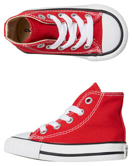RED KIDS BOYS CONVERSE FOOTWEAR - 7J232CRED