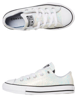 WOLF GREY KIDS GIRLS CONVERSE SNEAKERS - 665979CWGRY