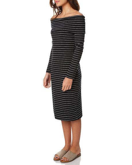 BLK WHT STRP WOMENS CLOTHING BETTY BASICS DRESSES - BB242W17BWSTR