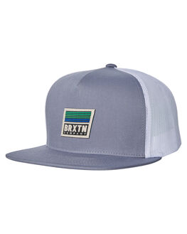 GREY WHITE MENS ACCESSORIES BRIXTON HEADWEAR - 10255GYWHT