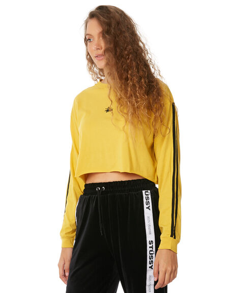 YELLOW WOMENS CLOTHING STUSSY TEES - ST186002YEL