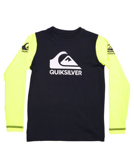 BLACK SAFTEY YELLOW BOARDSPORTS SURF QUIKSILVER TODDLER BOYS - UQKWR03042XKKG