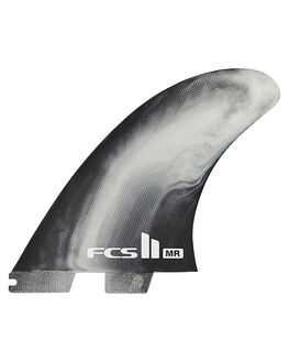 BLACK WHITE SWIRL SURF HARDWARE FCS FINS - FMRX-PC01-TS-RBKWHS1