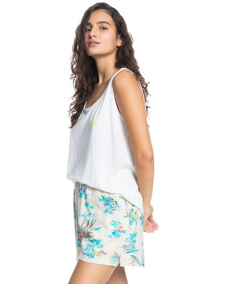 SNOW WHITE WOMENS CLOTHING QUIKSILVER SINGLETS - EQWZT03040-WBK0