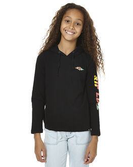 BLACK KIDS GIRLS RIP CURL TEES - JTECD10090