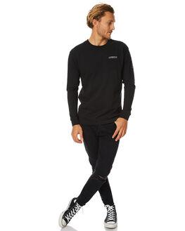 BLACK MENS CLOTHING AFENDS TEES - 02-02-084BLK
