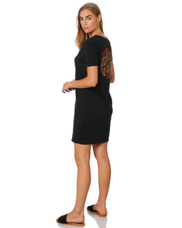 ACID BLACK WOMENS CLOTHING SANTA CRUZ DRESSES - SC-WDA0111ABLK