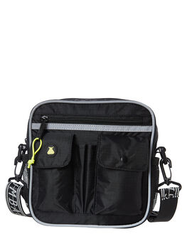 BLACK MENS ACCESSORIES THE BUMBAG CO BAGS + BACKPACKS - UB002BLK