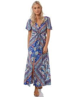 BLUE WOMENS CLOTHING ARNHEM DRESSES - ARMABL04BLU