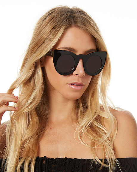 GLOSS BLACK GRADIENT WOMENS ACCESSORIES VALLEY SUNGLASSES - S0011GBG
