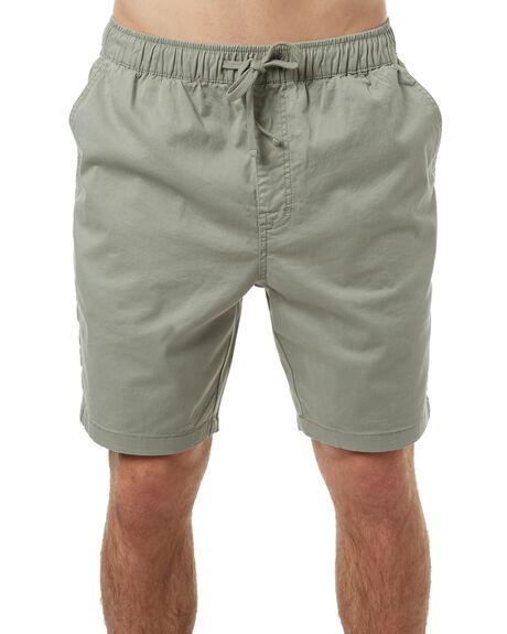 SMOKEY GREEN MENS CLOTHING KATIN SHORTS - WSPATS17SGRN