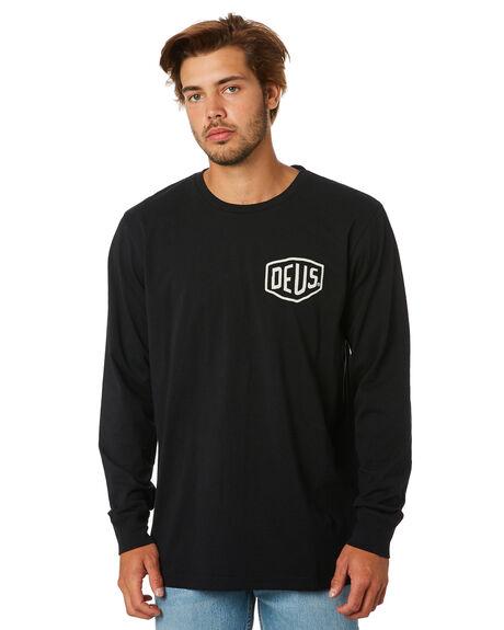 BLACK MENS CLOTHING DEUS EX MACHINA TEES - DMA61831BBLK
