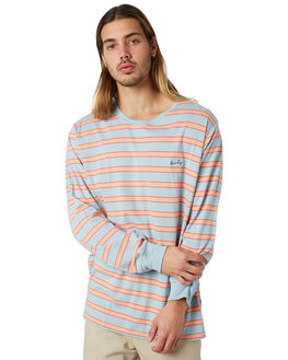 BLUE STRIPE MENS CLOTHING BARNEY COOLS TEES - 142-CR2BSTRP