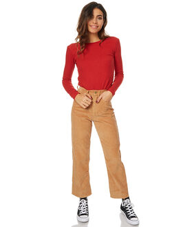 LIGHT TAN WOMENS CLOTHING AFENDS JEANS - 53-03-002LGT