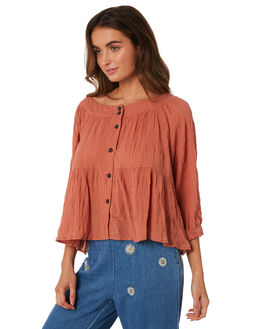 TERRACOTTA WOMENS CLOTHING FREE PEOPLE FASHION TOPS - OB920671-6835