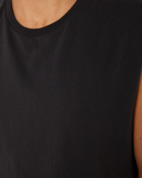 WASHED BLACK MENS CLOTHING BILLABONG SINGLETS - 9582506WSBLK
