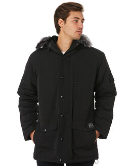 BLACK MENS CLOTHING RUSTY JACKETS - JKM0411BLK