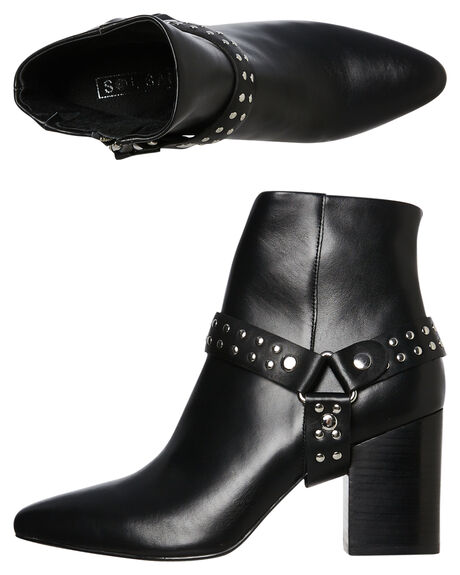 BLACK OUTLET WOMENS SOL SANA BOOTS - SS192W429BLK