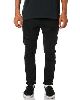 FADED BLACK MENS CLOTHING THRILLS JEANS - TDP-418FBFBLK