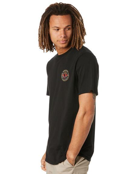 BLACK MENS CLOTHING DEPACTUS TEES - D5222007BLK