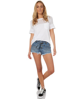 WHITE WOMENS CLOTHING ELEMENT TEES - 273003AWHT