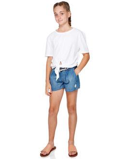 MEDIUM BLUE KIDS GIRLS ROXY SHORTS + SKIRTS - ERGDS03048-BGY0