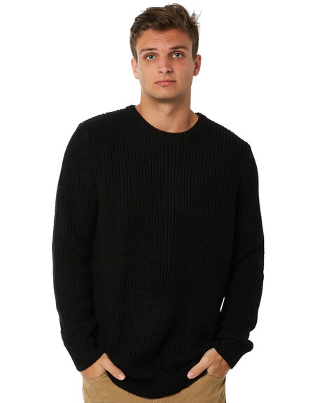 BLACK MENS CLOTHING ROLLAS KNITS + CARDIGANS - 10859100