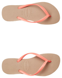 ROSE GOLD WOMENS FOOTWEAR HAVAIANAS THONGS - 41329313581