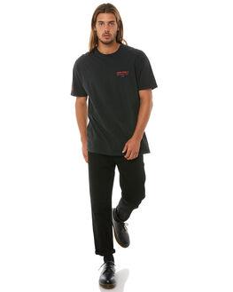 BLACK MENS CLOTHING STUSSY TEES - ST081010BLK
