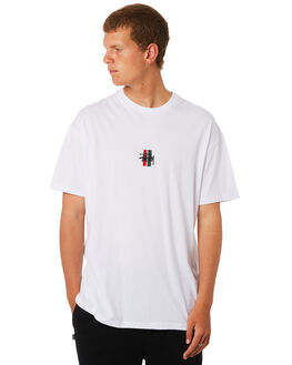 WHITE MENS CLOTHING STUSSY TEES - ST073014WHT