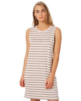 PINK BROWN STRIPE OUTLET WOMENS ELWOOD DRESSES - W947186KI