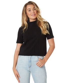 BLACK WOMENS CLOTHING THE HIDDEN WAY FASHION TOPS - H8189148BLACK