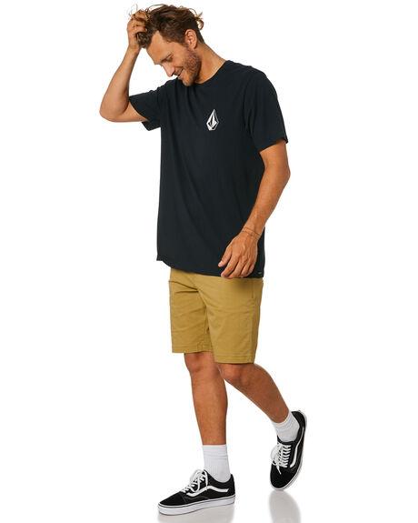 BLACK MENS CLOTHING VOLCOM TEES - A5011908BLK
