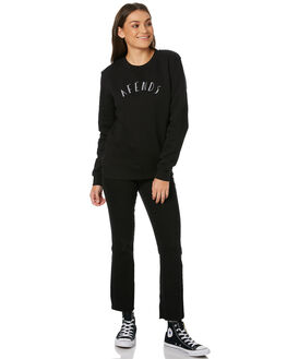 BLACK WOMENS CLOTHING AFENDS JUMPERS - W182504BLK