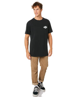 WASHED BLACK MENS CLOTHING RIP CURL TEES - CTEQX28264
