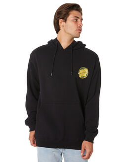 BLACK MENS CLOTHING SANTA CRUZ JUMPERS - SC-MFA9167BLK