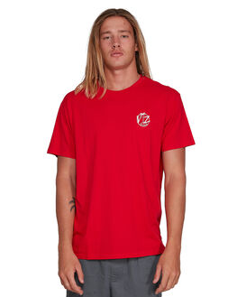 WASHED RED MENS CLOTHING VONZIPPER TEES - VZ-3994009-WR3
