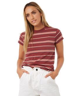 PLUM BERRY WOMENS CLOTHING BILLABONG TEES - 6585137PBRY