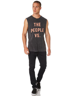BLACK ACID CORAL MENS CLOTHING THE PEOPLE VS SINGLETS - HS18059BLKCR