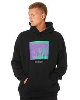 BLACK MENS CLOTHING BRIXTON JUMPERS - 02596BLACK
