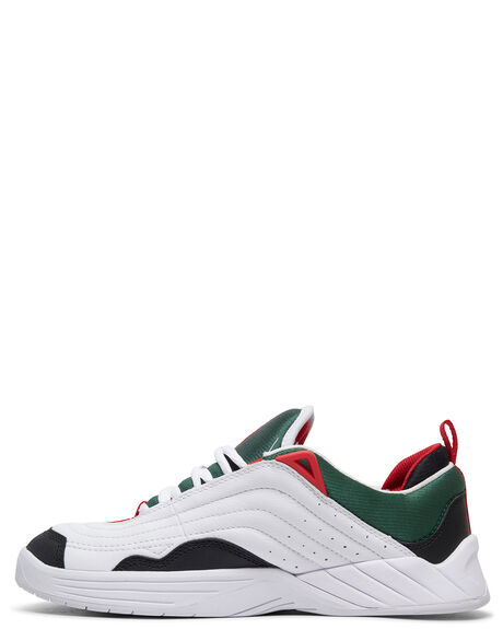 WHT/BLK/RED MENS FOOTWEAR DC SHOES SNEAKERS - ADYS100539-WTK