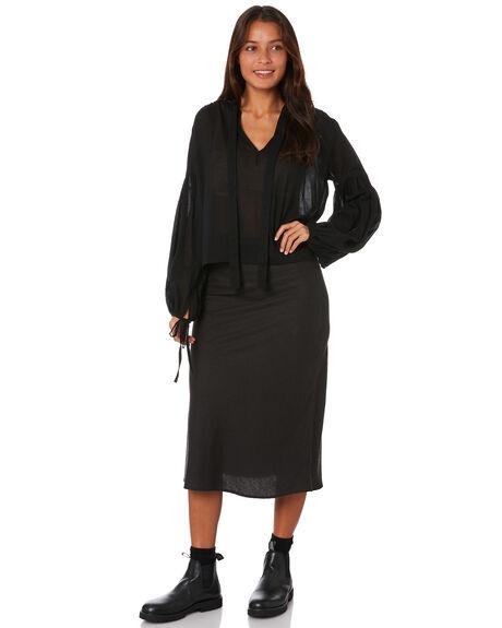 BLACK WOMENS CLOTHING RUE STIIC FASHION TOPS - AS-19-12-B2-RBLK