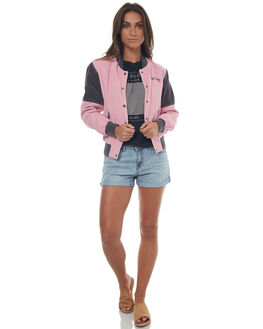 RETRO PINK WOMENS CLOTHING BILLABONG JACKETS - 6572891RE1