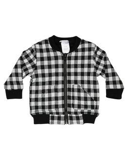 BLACK WHITE KIDS BOYS TINY TRIBE JUMPERS + JACKETS - TTGW18-8002CBLKWH