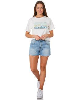 WHITE WOMENS CLOTHING COOLS CLUB TEES - 105-CW3WHI