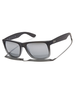 RUBBER GREY SILVER UNISEX ADULTS RAY-BAN SUNGLASSES - 0RB41655585288