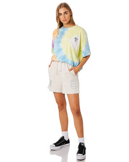 MULTI TIE DYE WOMENS CLOTHING STUSSY TEES - ST192006MUL