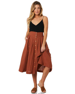 RUST WOMENS CLOTHING SWELL SKIRTS - S8184473RUST