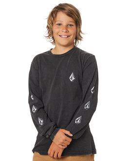 BLACK KIDS BOYS VOLCOM TOPS - C3631871BLK